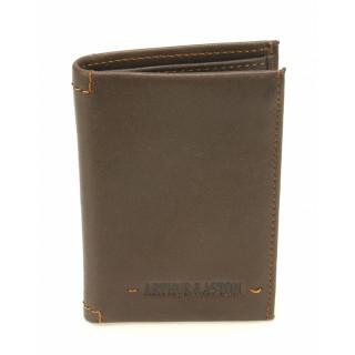 Arthur & Aston Johany Mini Chataigne Leather Card Holder