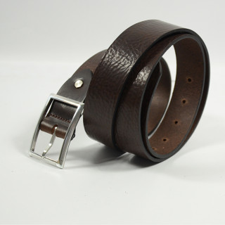 JL Fourès Leather Belt Missouri Men f50615 Brown