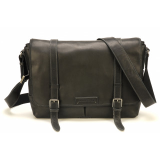 Arthur & Aston Johany Bag Black Leather Reporter