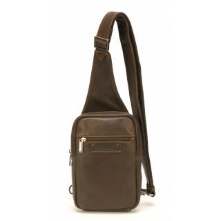 Arthur & Aston Johany Grand Body Bag Cuir Chataigne