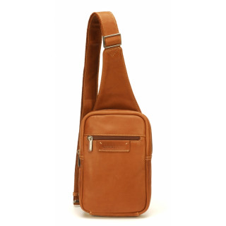 Arthur & Aston Johany Grand Body Bag Cuir Cognac