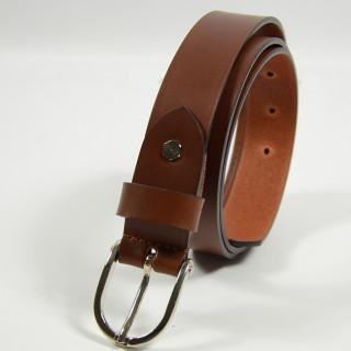 Jean Louis Fourès Baroudeuse leather Belt 25mm F50856 Cognac