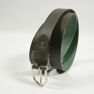 Jean Louis Fourès Leather Belt 25mm F50856 Kaki