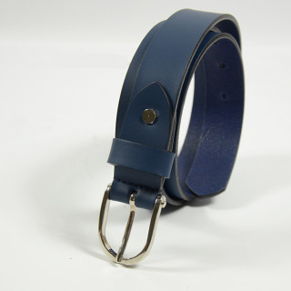 Jean Louis Fourès Leather Belt 25mm F50856 Blue