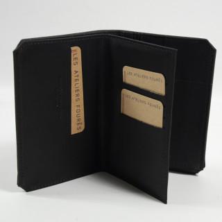 Jean Louis Fourès Baroudeur Portefeuille 3 Volets 14 cm Noir ouvert