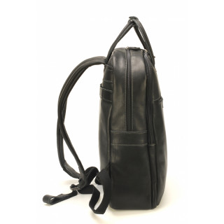 Arthur & Aston Johany Black Leather Backpack