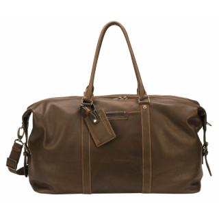 Arthur & Aston Johany Chataigne Leather Flexible Travel Bag