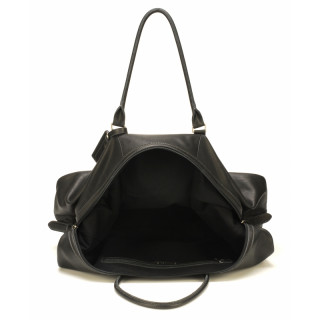 Arthur & Aston Johany Flexible Black Leather Travel Bag