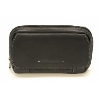 Arthur & Aston Johany Black Leather Belt Pocket