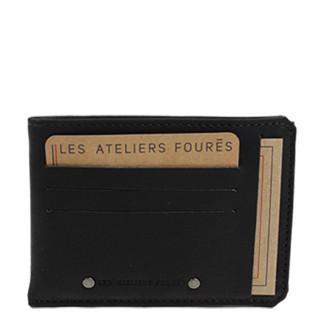 Jean-Louis Fourès Baroudeur Porte-feuille avec poche monnaie au dos Noir