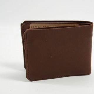 Jean-Louis Fourès Baroudeur Italian Wallet Porte Tickets Zippé Cognac