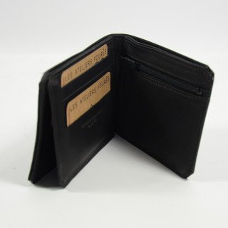 Jean-Louis Fourès Baroudeur Italian Wallet Porte Tickets Zippé Noir