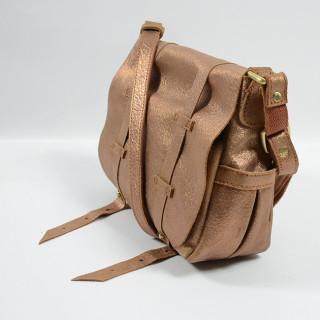 Mila Louise Bess New Glitter Crossbody Bag Caramel