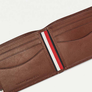 Tommy Hilfiger Business Small Leather Portfolio Chestnut