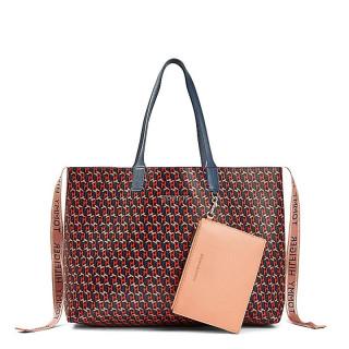 Tommy Hilfiger Iconic Bag Cabas Monogram Charcoal Blue