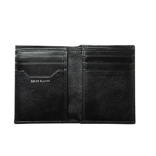 Serge Blanco Halifax Black Leather Card Holder