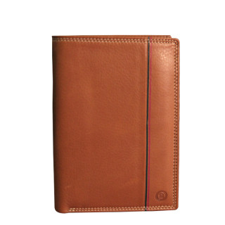 Serge Blanco Vancouver Grand Leather Cognac Wallet