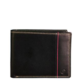 Serge Blanco Vancouver Italian Wallet 2 Volets Black Leather