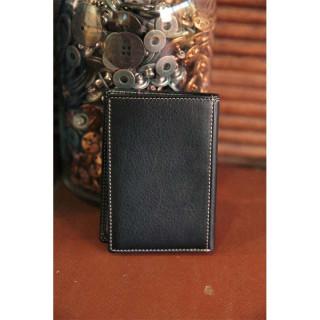 Serge Blanco Vancouver Mini Black Leather Wallet