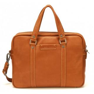 Arthur & Aston Johany Leather Cognac Briefcase