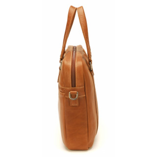 Arthur & Aston Johany Leather Cognac Briefcase