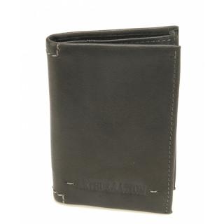 Arthur & Aston Johany Mini Porte Black Leather Cards