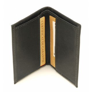 Arthur & Aston Johany Mini Porte Cartes Cuir Noir