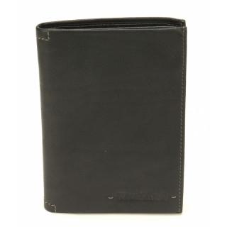 Arthur & Aston Johany Portefeuille Cuir 2 Volets Noir