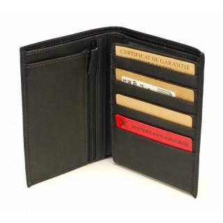 Arthur & Aston Johany Leather Wallet 2 Black Volets