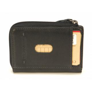 Arthur & Aston Johany Porte Monnaie et Carte Cuir Noir