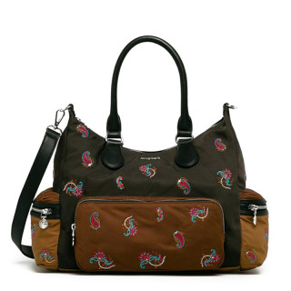 Desigual London Multi Pocket Bag Caqui