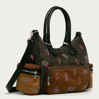 Desigual London Sac à Main Multi Poches Caqui