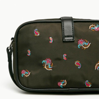 Desigual Oban Crossbody Bag Double Pockets Caqui