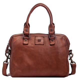 Biba Boston Handbag A Hand Cuero