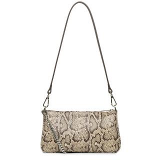Lancaster Exotic Python Brown ZipperEd Pocket