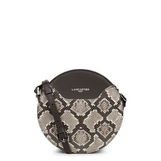 Lancaster Exotic Python Round Handbag Brown
