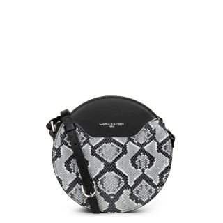 Lancaster Exotic Python Round Handbag Noir
