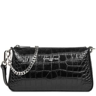 Lancaster Exotic Croco Small black Crossbody Bag
