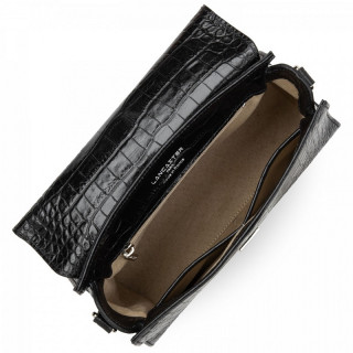 Lancaster Exotic Croco Cabas Black Hand Bag