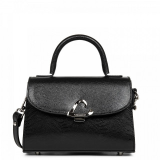 Lancaster Lucertola Mini Black Leather Handbag