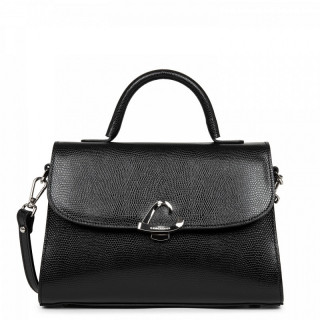 Lancaster Lucertola Grand Black Leather Handbag