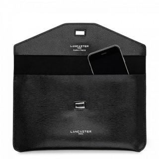 Lancaster Lucertola Black Leather Pocket
