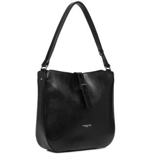 Lancaster Lucertola Black Leather Bucket Bag