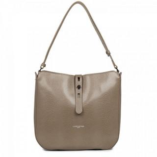 Lancaster Lucertola Taupe Leather Bucket Bag