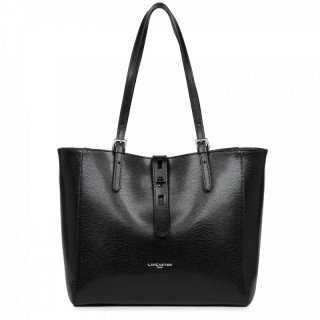 Lancaster Lucertola Black Leather Cabas Bag
