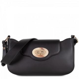 Lancaster Marble Touch Messenger Bag Leather 571-59 Black