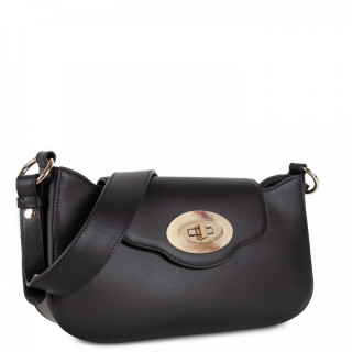 Lancaster Marble Touch Bag Besace Black Leather