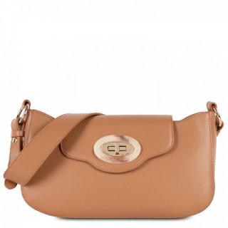Lancaster Marble Touch Messenger Bag Leather 571-59 Camel