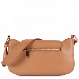 Lancaster Marble Touch Sac Besace Cuir Camel