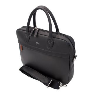 Jump Uppsala Leather Cartable 1 Soufflet 36cm PC 13' Black